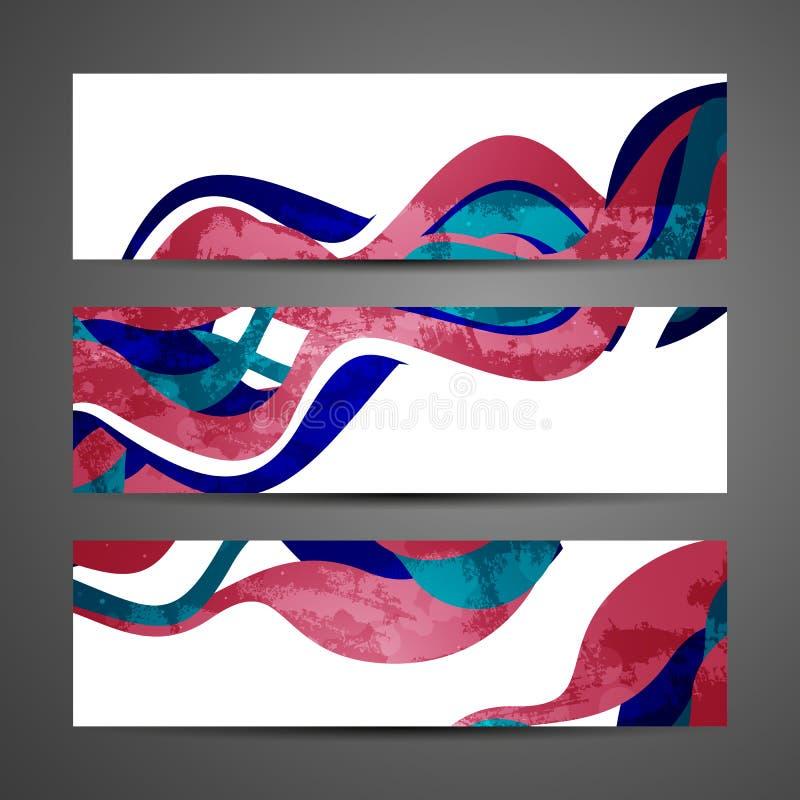 Абстрактные знамена иллюстрация вектора