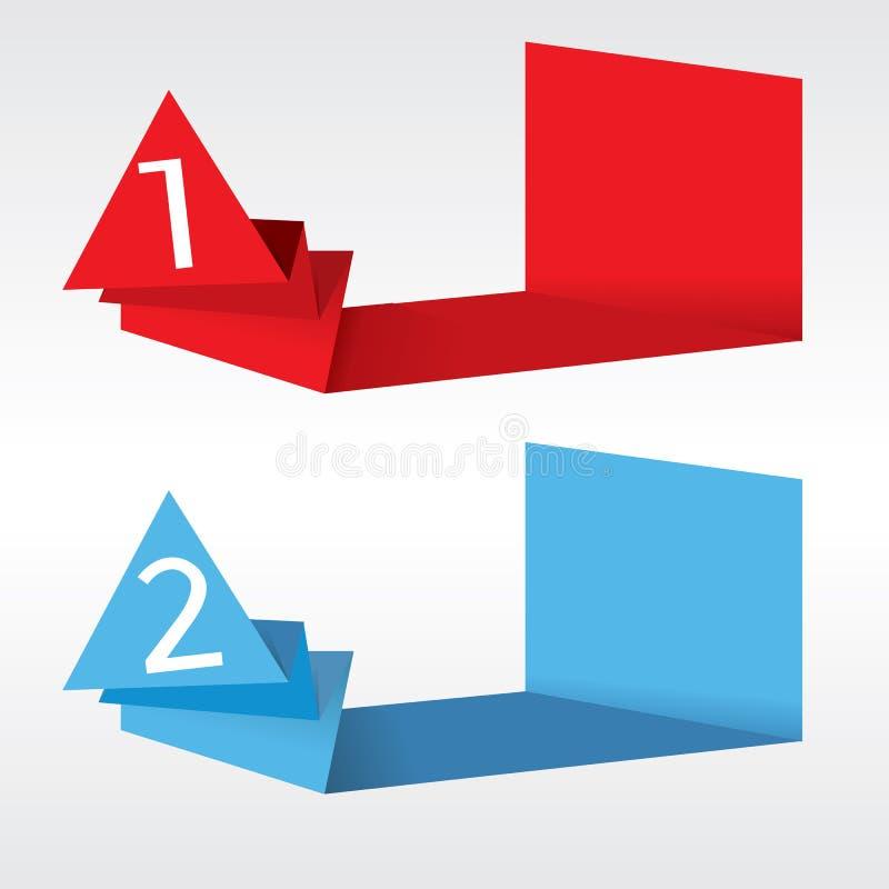 Абстрактные знамена Origami. бесплатная иллюстрация