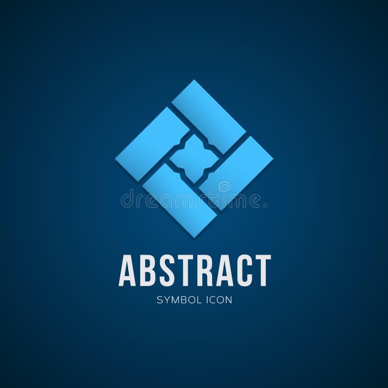 Абстрактные значок или логотип символа концепции вектора иллюстрация вектора