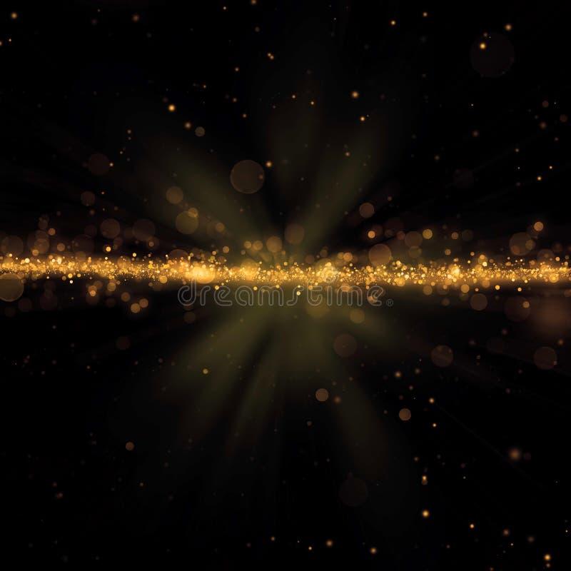 Абстрактные золотистые света стоковое изображение rf