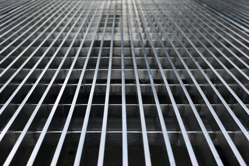 Абстрактные линии решетки металла стоковое изображение rf