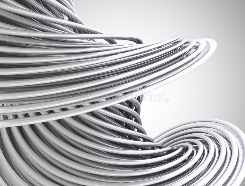 Абстрактные линии 3d иллюстрация вектора