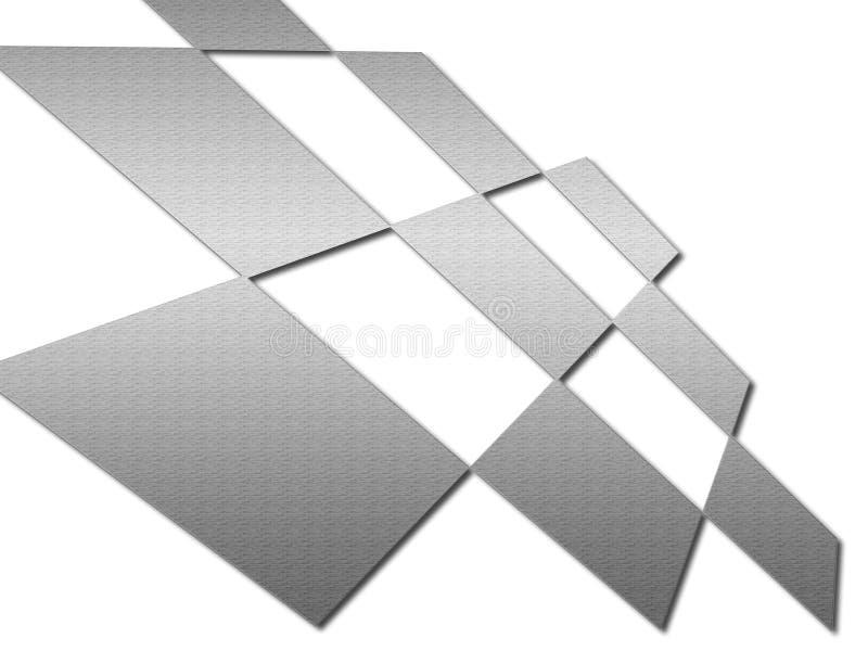 абстрактные квадраты металла иллюстрация штока