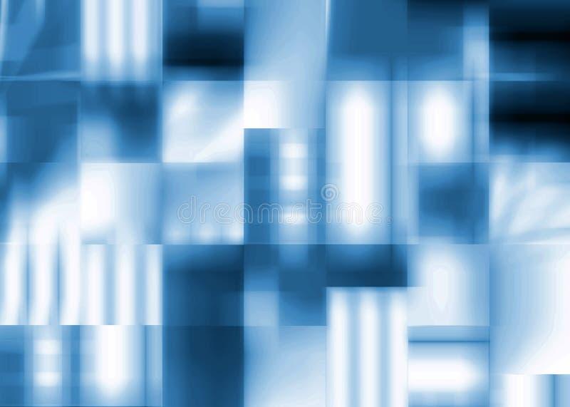 абстрактные квадраты сини предпосылки бесплатная иллюстрация