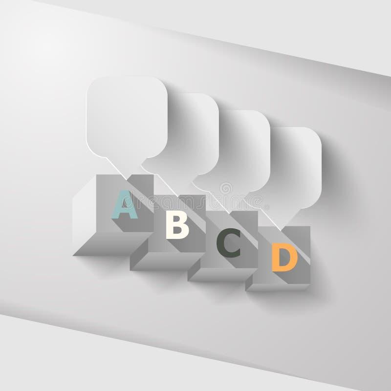 Абстрактные квадратные индикаторы данным по роста бесплатная иллюстрация