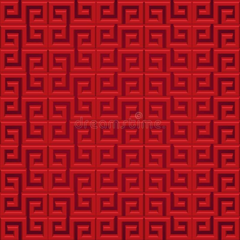 Абстрактные китайские предпосылка и картина иллюстрация вектора