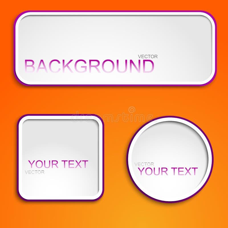 Абстрактные кнопки для вашего места стоковое фото rf