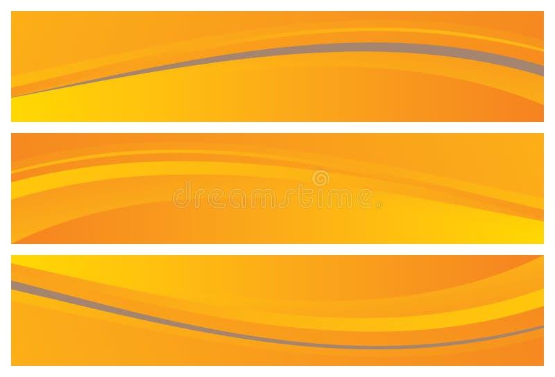 абстрактные коллекторы знамен иллюстрация штока
