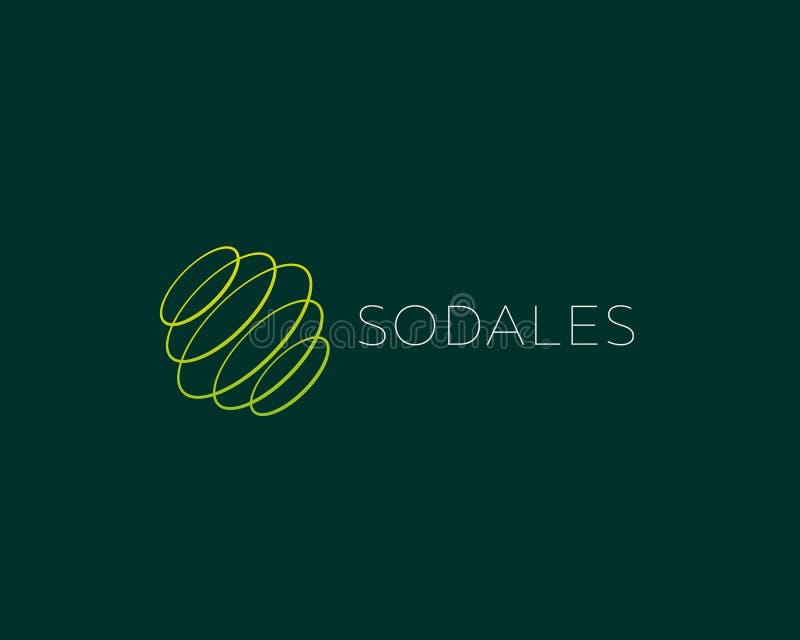 Абстрактные кольца кругов закручивают дизайн логотипа Всеобщий логотип вектора планеты сферы цвета иллюстрация штока