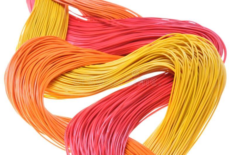 Абстрактные компьютерные сети, кабели и проводы стоковое фото rf