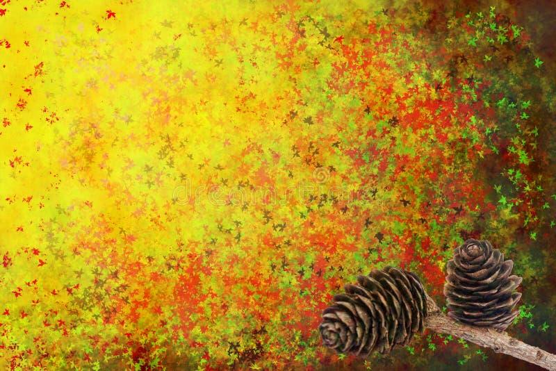 абстрактные конусы предпосылки осени стоковая фотография rf