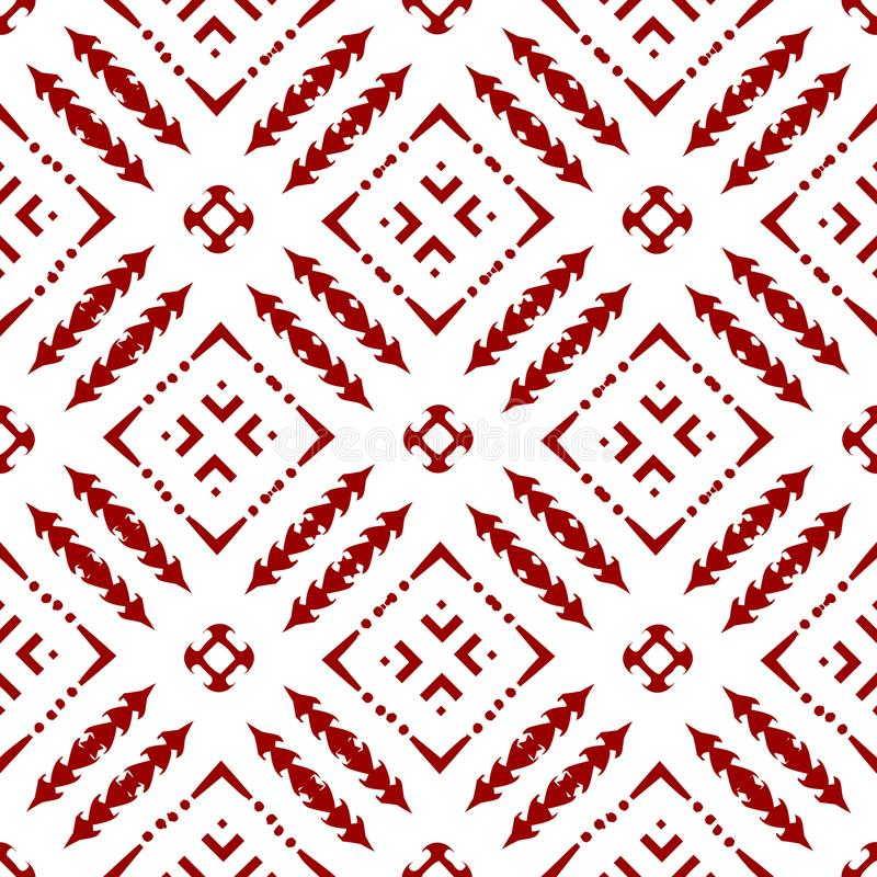 Абстрактные красивые орнаментальные восточные красные королевские исламские арабские китайские флористические геометрические безш бесплатная иллюстрация