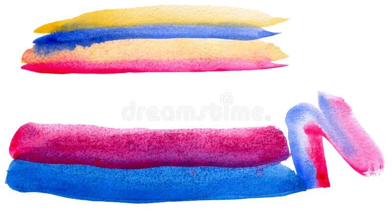 Абстрактные красные, голубые и желтые нашивки бесплатная иллюстрация