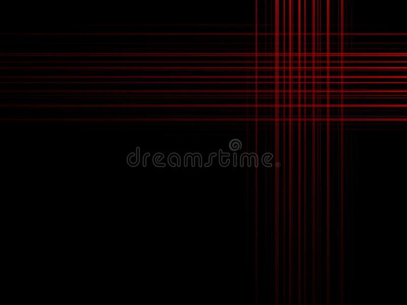 Абстрактные красные линии на темно-синей предпосылке Картина линии во стоковое фото rf