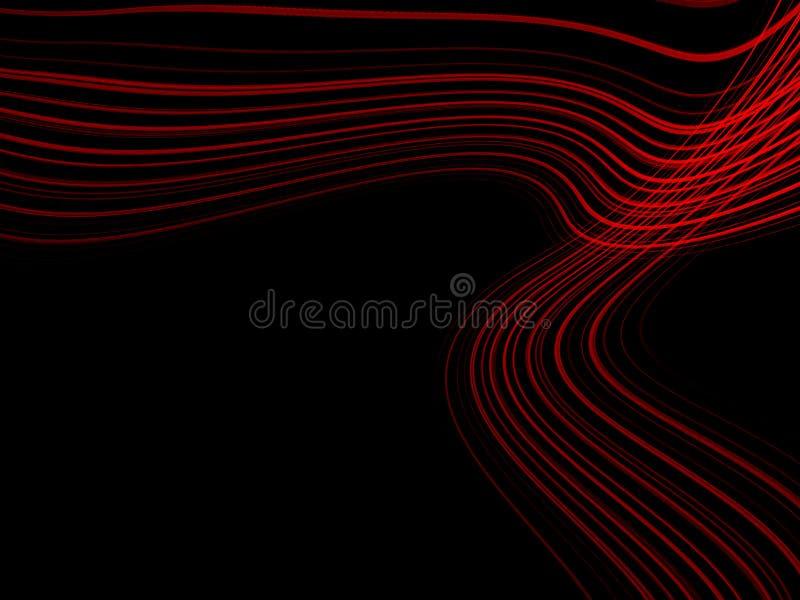 Абстрактные красные линии на темно-синей предпосылке Картина линии во стоковые изображения