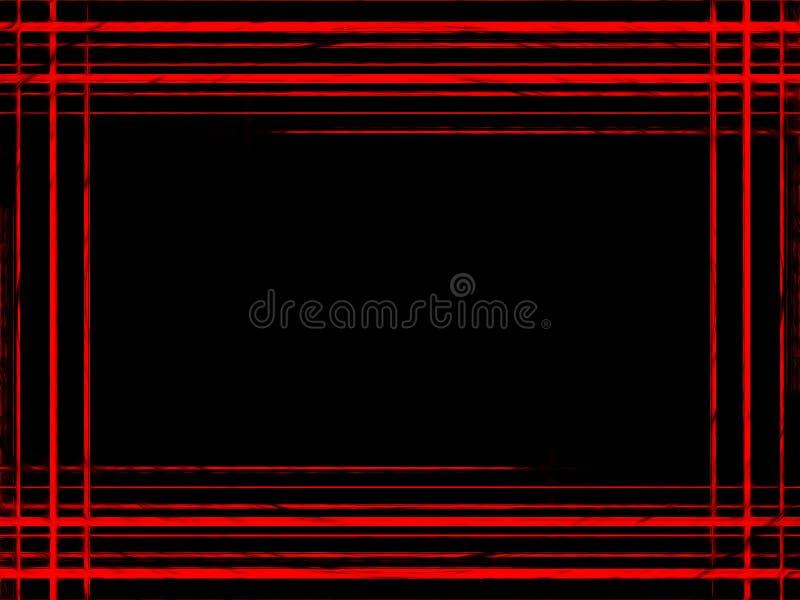 Абстрактные красные линии на темно-синей рамке предпосылки Картина ли стоковое изображение
