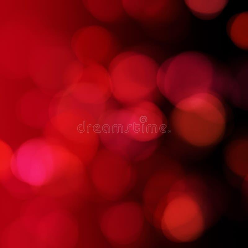 Абстрактные красные света рождества на предпосылке стоковое фото rf