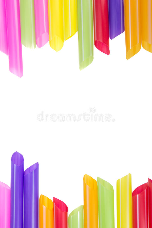 Абстрактные красочные выпивая соломы стоковое изображение rf