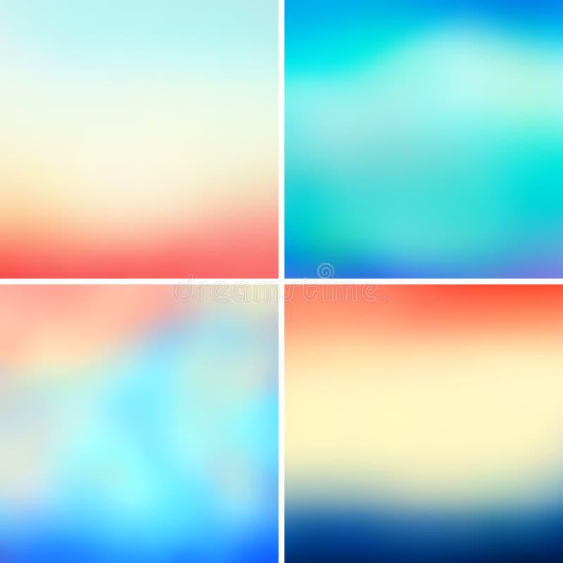 Абстрактные красочные запачканные предпосылки вектора иллюстрация штока