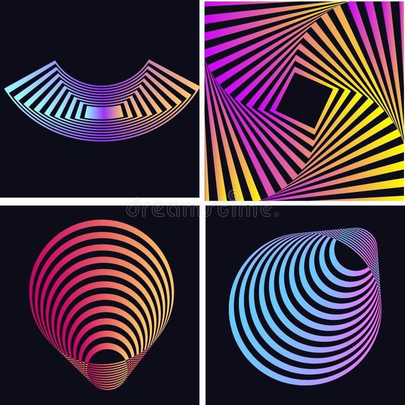 Абстрактные красочные накаляя формы имеющийся декоративный архив eps элементов конструкции иллюстрация штока