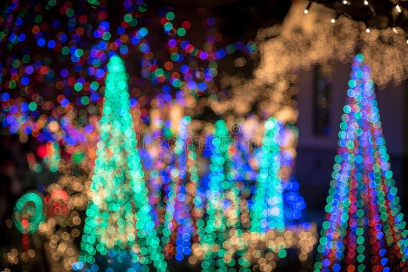 Абстрактные красочные света рождественской елки стоковые изображения