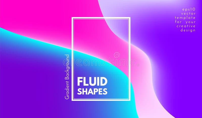 Абстрактные красочные формы с влиянием 3d иллюстрация штока