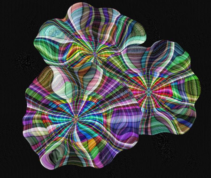 Абстрактные красочные цветки на холсте иллюстрация вектора