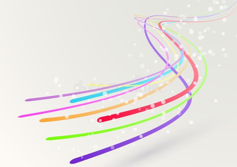 Абстрактные красочные яркие течь линии swoosh бесплатная иллюстрация