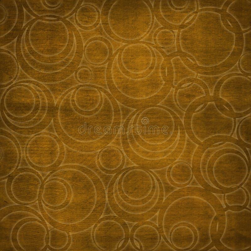 абстрактные круги коричневого цвета предпосылки иллюстрация штока