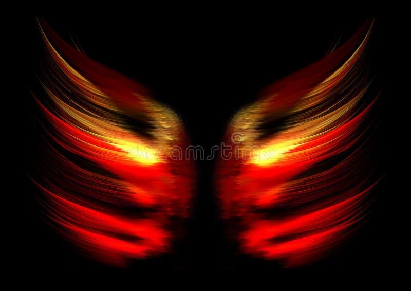 абстрактные крыла пламени стоковое изображение