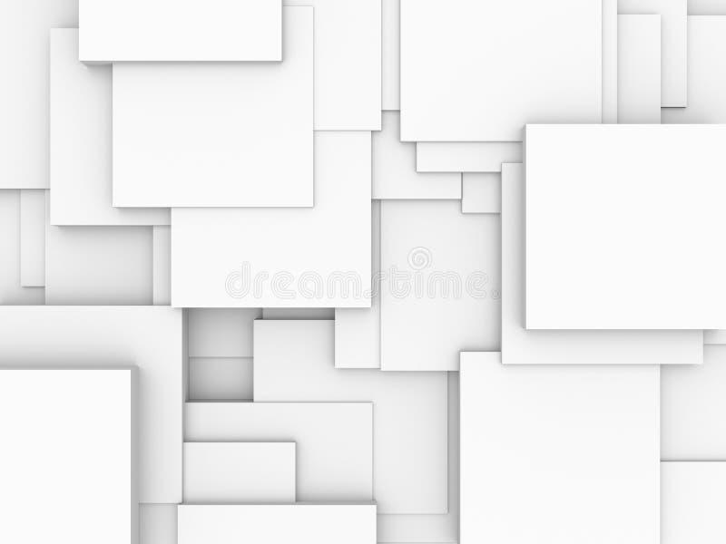 абстрактные кубики предпосылки иллюстрация вектора