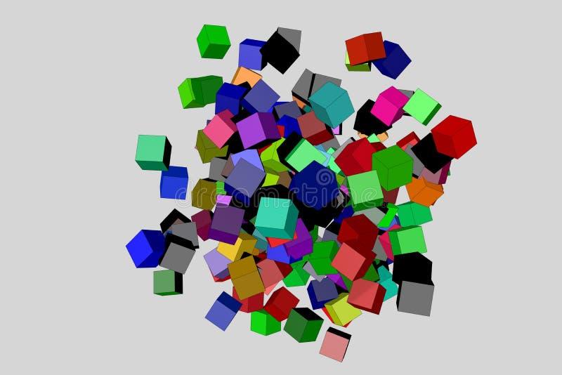 абстрактные кубики предпосылки стоковые изображения rf