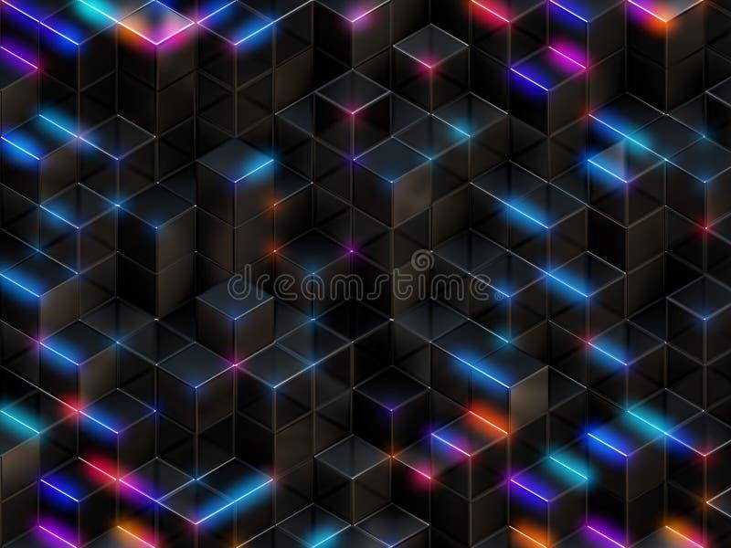 абстрактные кубики предпосылки 3d иллюстрация вектора