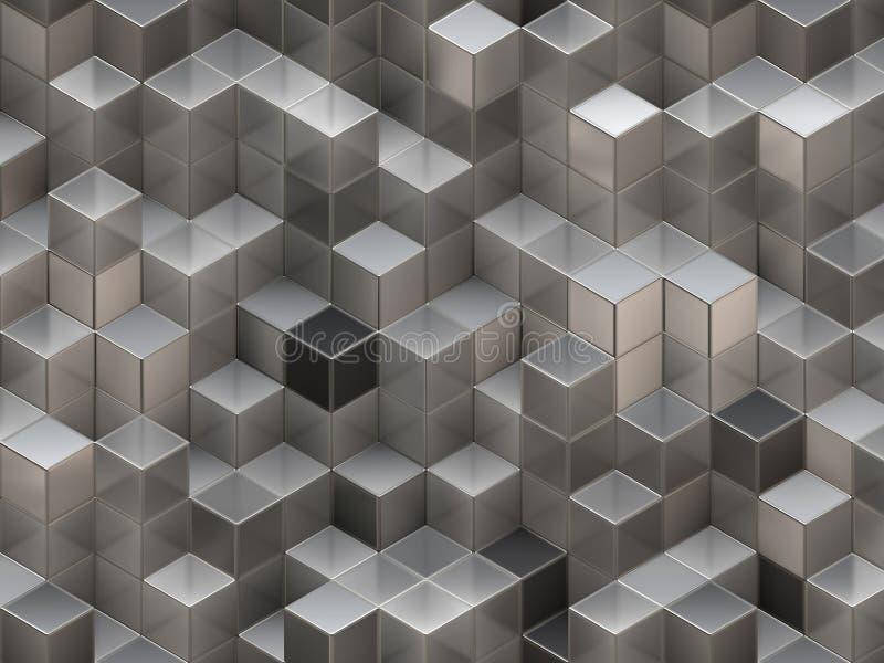 абстрактные кубики предпосылки 3d иллюстрация штока