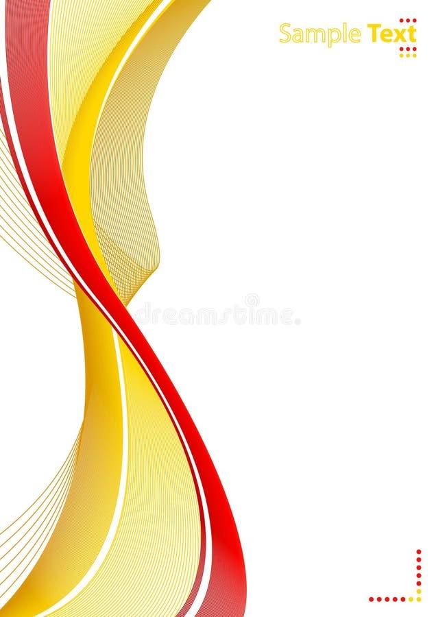 абстрактные линии бумажный шаблон иллюстрация штока