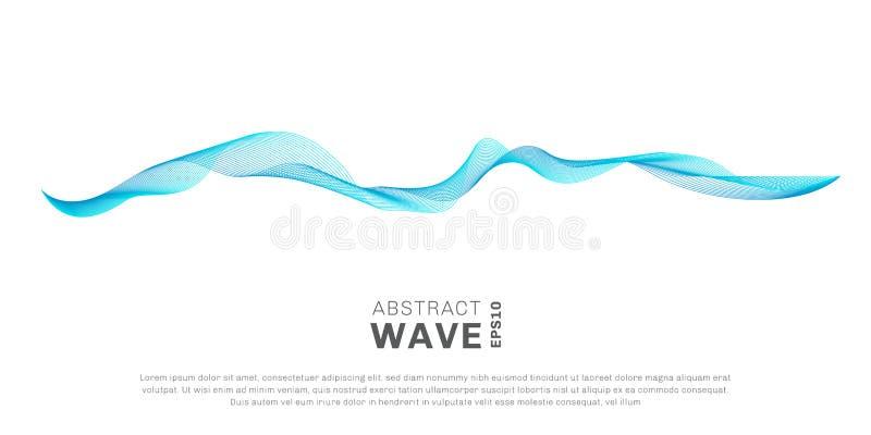 Абстрактные линии голубой пропускать волны цвета изолированный на белой предпосылке Вы можете использовать для элементов или разд бесплатная иллюстрация