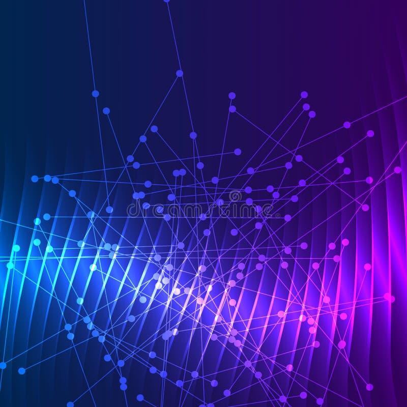 Абстрактные линии предпосылки и точки накаляя светлое effect02 бесплатная иллюстрация