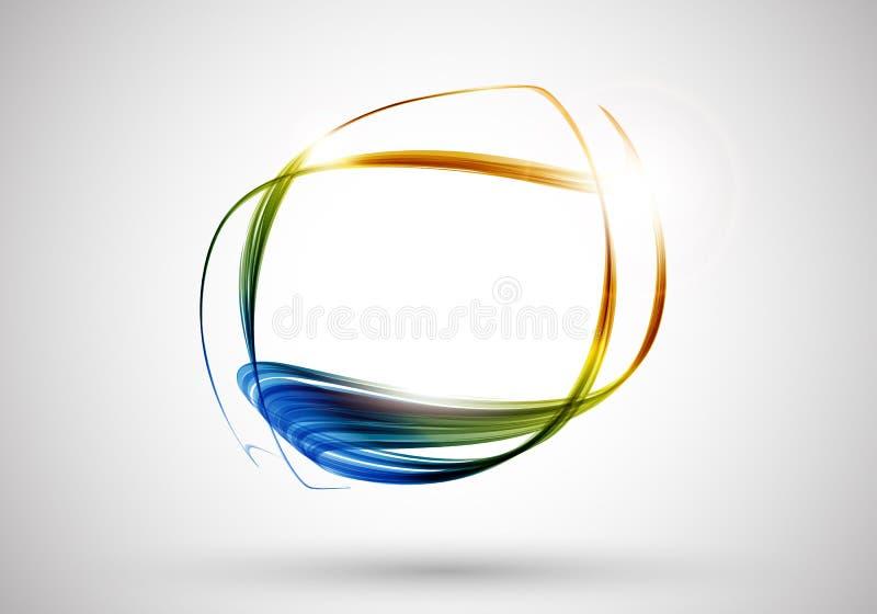 абстрактные линии цвета предпосылки иллюстрация вектора