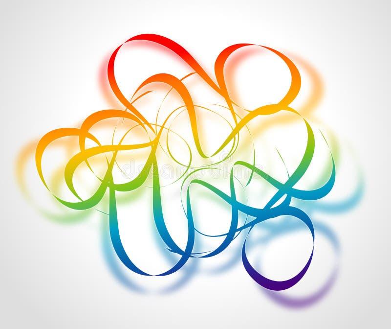 абстрактные линии цвета предпосылки иллюстрация штока