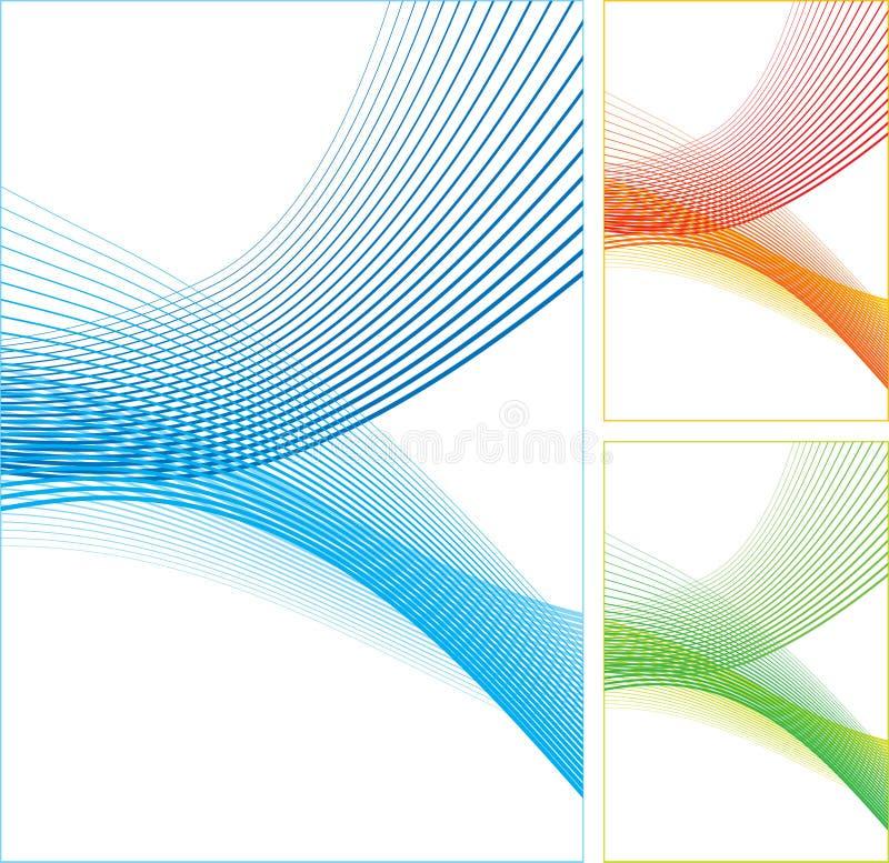 абстрактные линии цвета иллюстрация штока