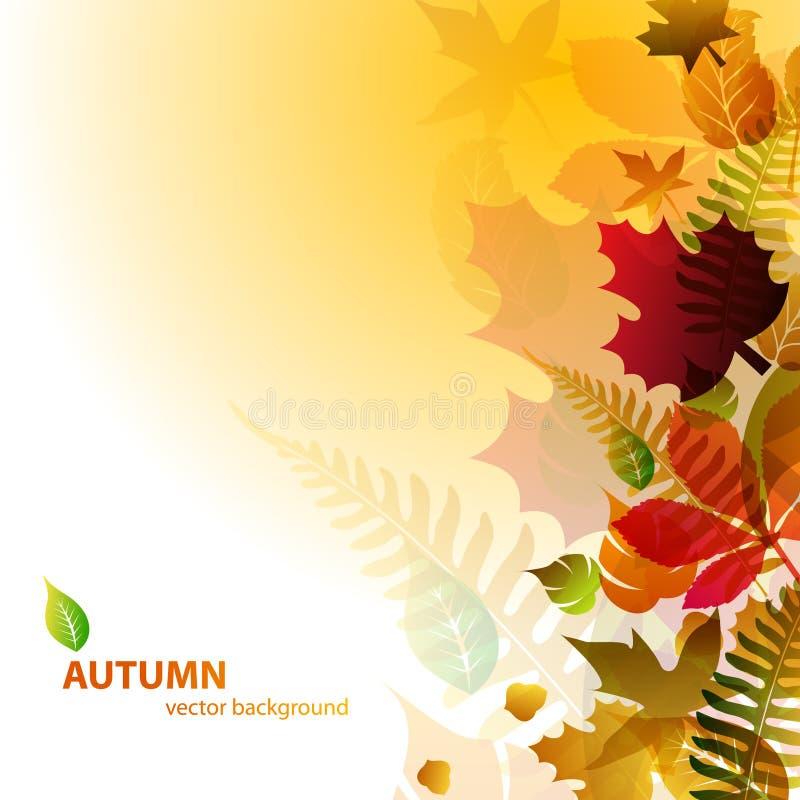 абстрактные листья предпосылки осени иллюстрация штока