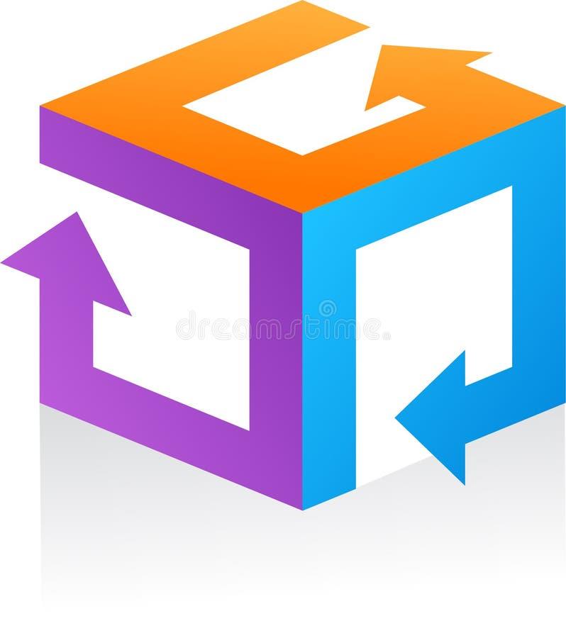 Абстрактные логос вектора/икона - 9 иллюстрация вектора