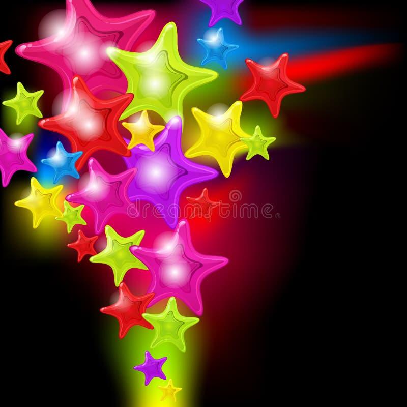 абстрактные лоснистые звезды выплеска бесплатная иллюстрация