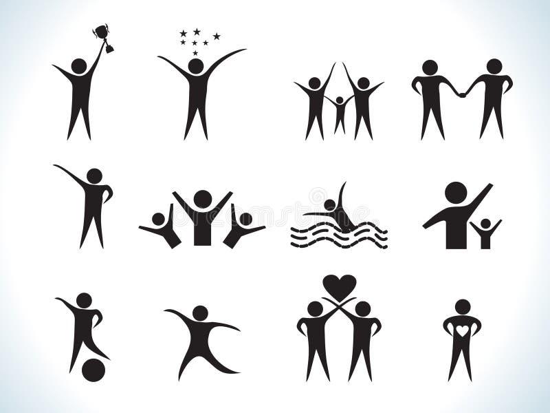 абстрактные люди иконы иллюстрация штока