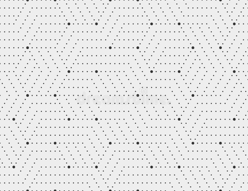 Абстрактные нашивки точек, линия безшовная картина Нейтральная monochrome предпосылка дела, черный серый цвет Поставленное точки  иллюстрация штока
