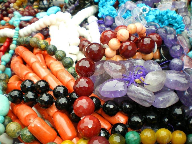 абстрактные ожерелья gemstone стоковое фото rf