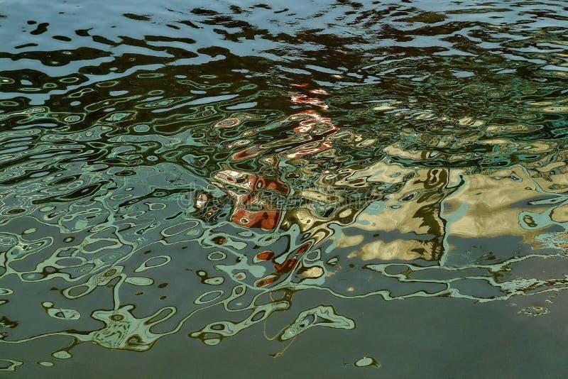 Абстрактные отражения в воде стоковая фотография rf