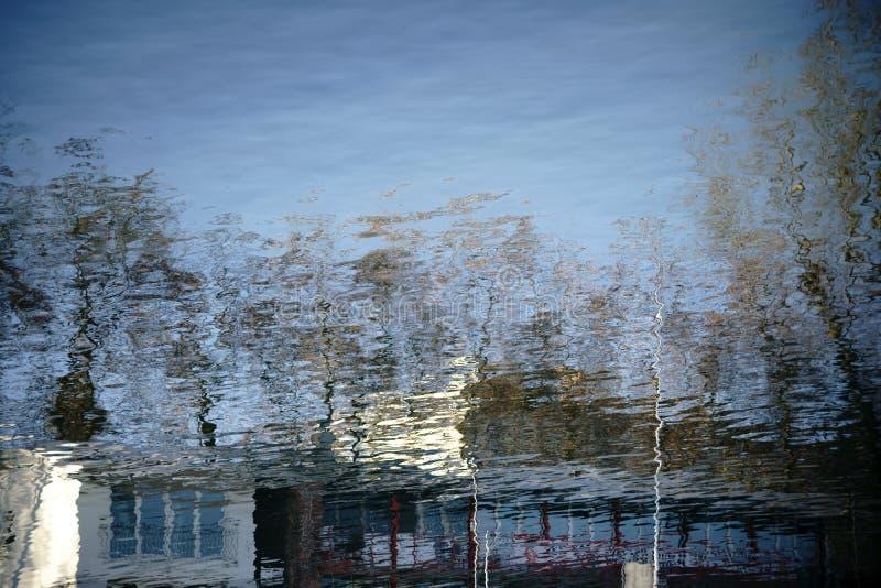 Абстрактные отражения на воде стоковая фотография