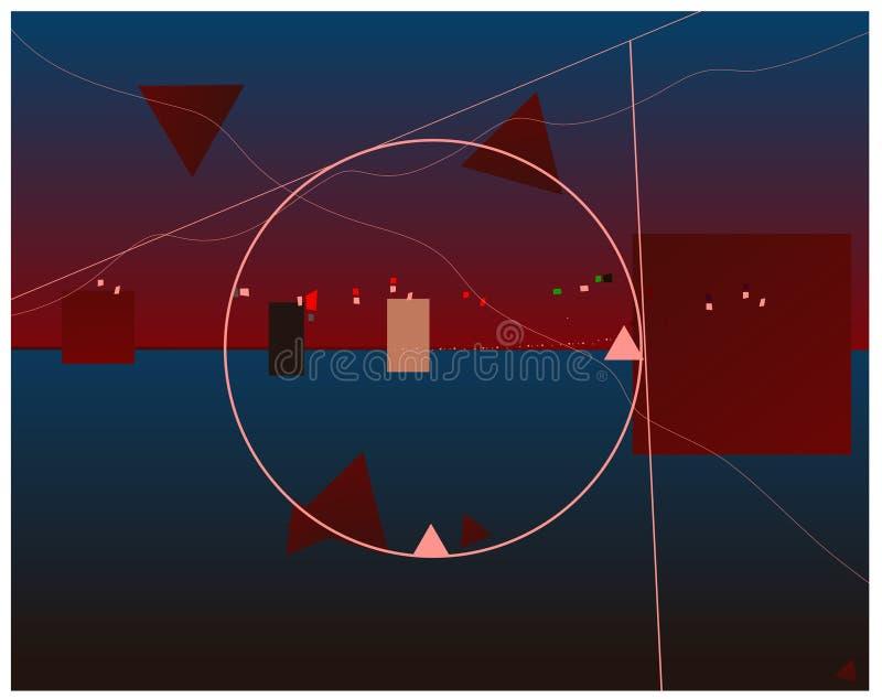 Абстрактные пазы дизайна иллюстрация вектора