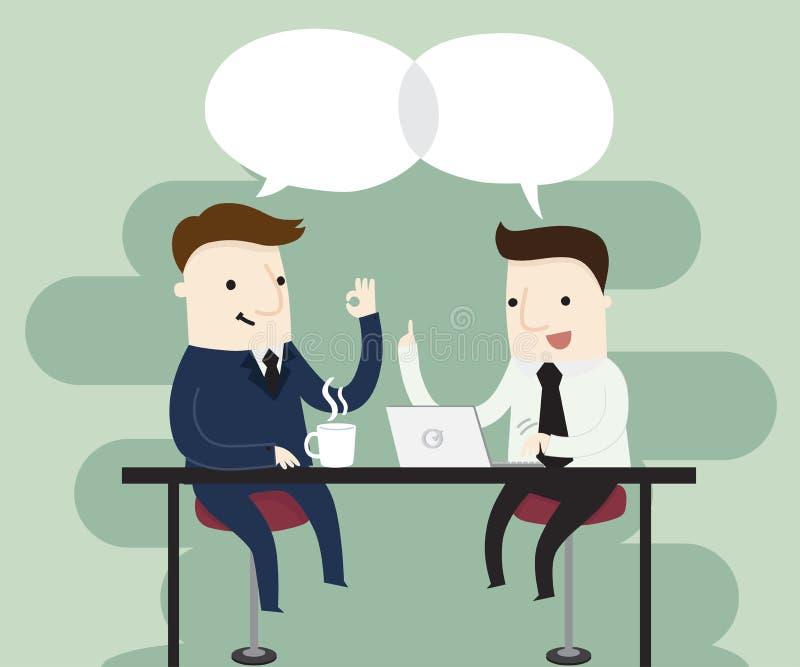 абстрактные переговоры бизнеса моделя 3d иллюстрация штока